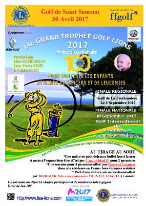 Compétition lions club golf de st-samson